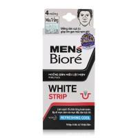 Miếng dán mũi lột mụn Bioré White Strip for men - 2568