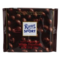 Chocolate Ritter Sport Dark Whole Hazelnuts - 1034