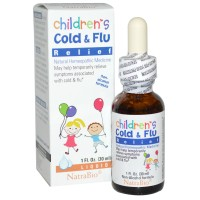 Siro trị ho NatraBio Children's Cold & Flu 30ml - T178