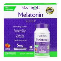 Hỗ trợ cải thiện giấc ngủ Natrol Melatonin 5mg Extra Strength 250viên