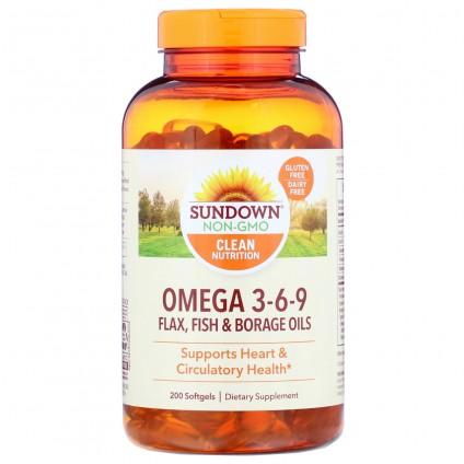 Hỗ trợ tim mạch Sundown Triple Omega 3-6-9 200 viên