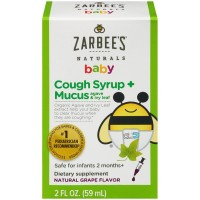 Siro Trị Ho Zarbee's Naturals Baby Cough Syrup + Mucus 59ml