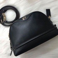Túi Coach Refined Black Pebbled Leather Ivie Crossbody Bag