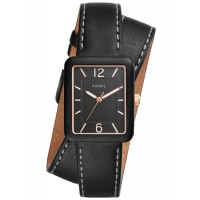 Đồng hồ Fossil Atwater Three-Hand Black Leather Wrap Watch - 3050