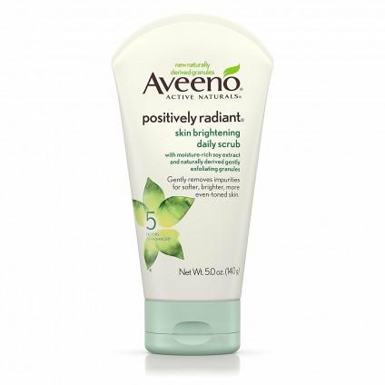 Sữa rửa mặt tẩy tế bào chết Aveeno Positively Radiant 140g