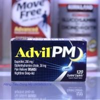 Viên uống Advil PM 120 viên-Gảm đau Hỗ trợ giấc ngủ vào ban đêm, 200mg Ibuprofen, 38mg Diphenhydramine