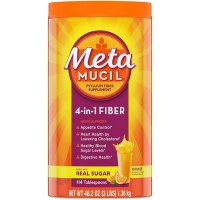 Metamucil 4 in 1 fiber Orange Smooth Powder with Real Sugar 1.36kg